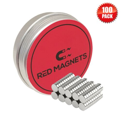 Strong Small Magnets Set & Storage Tin 5mm x 2 Neodymium Dis