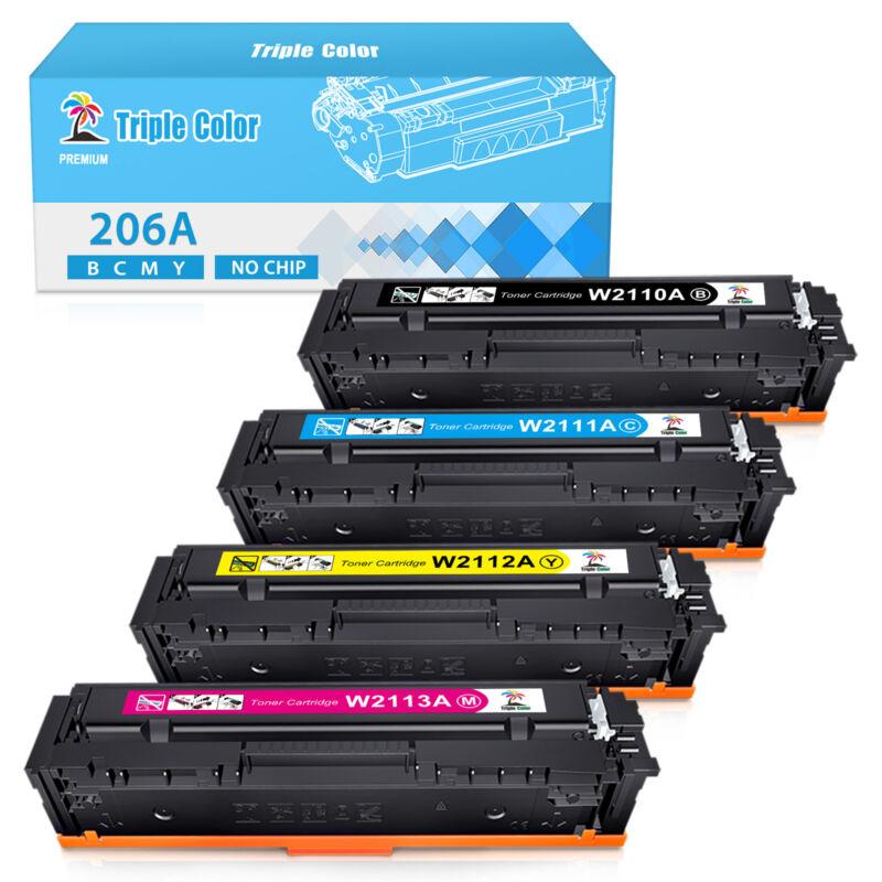 4 W2110A Toner Compatible for HP 206A LaserJet Pro MFP M283fdw M282 M283 No Chip