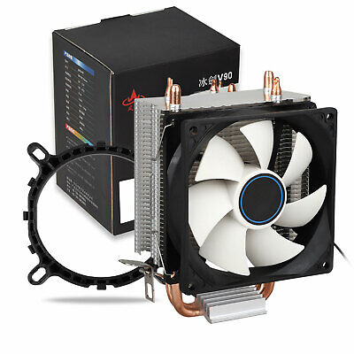 90mm Quiet CPU Dual Copper Pipe Cooler Fan for LGA 1156/1155