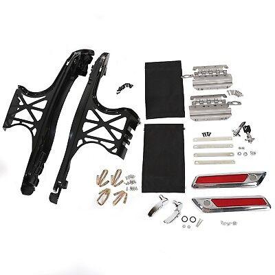 Hard Saddle Bag Hardware Edge Cut Hinges Latch Cover Lid Lock For Harley - Bag Latch