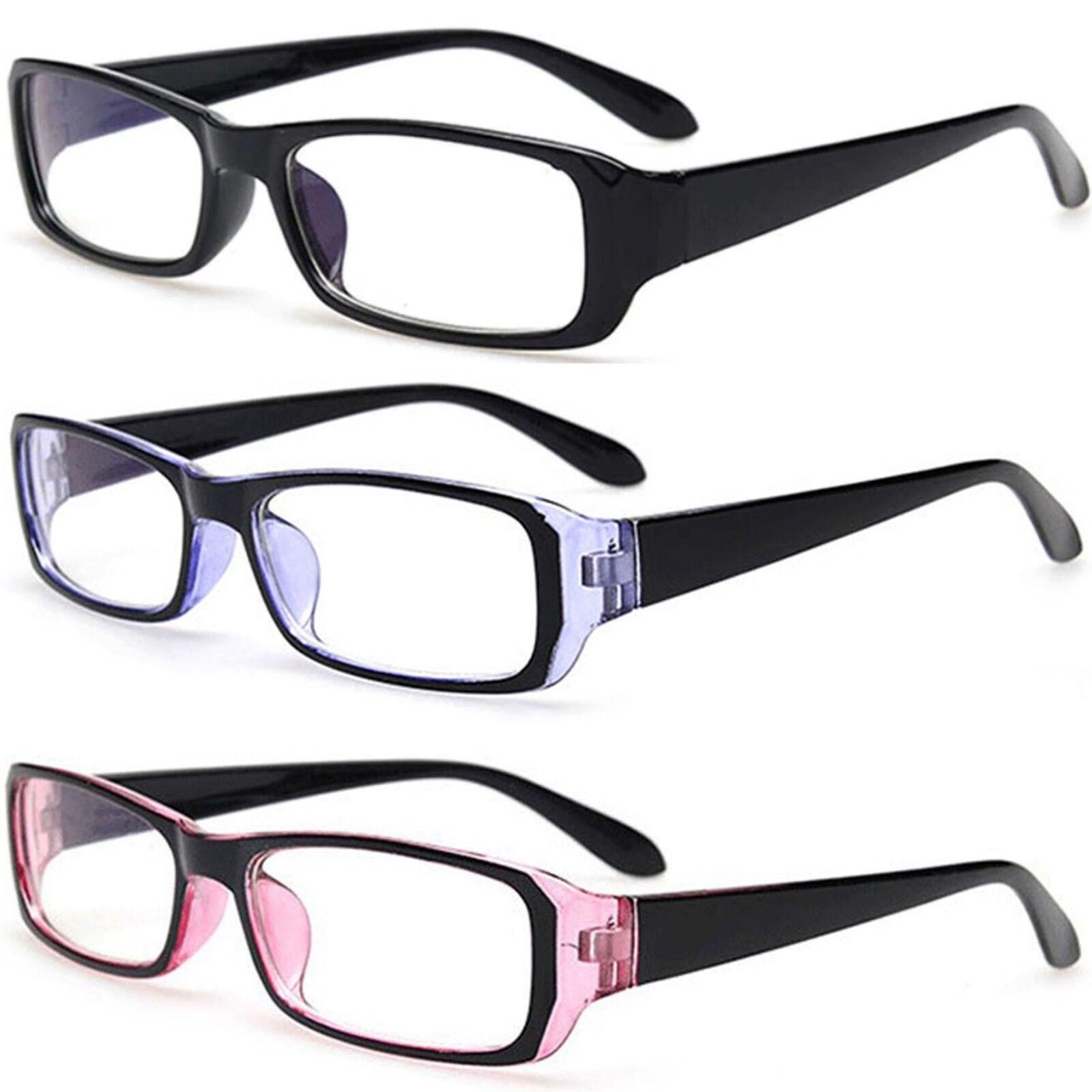 Slim Sexy Sekretärin Stil Kunststoff Klar Linse Mode Brille