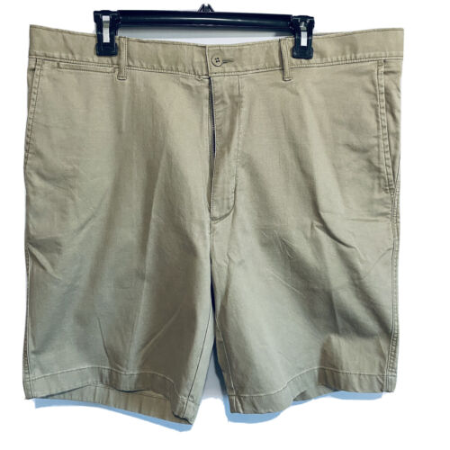 """Cremieux Mens Madison Khaki Chino Shorts 36 Flat Front 9"""" Stretch Clothing, Shoes & Accessories"""