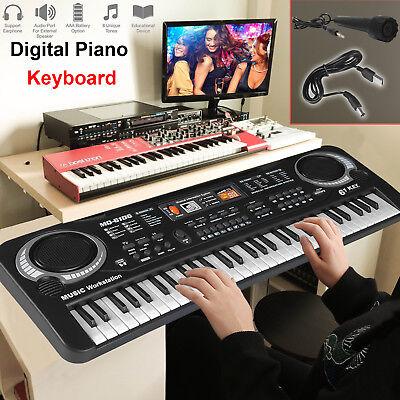 61 Keys Digital Electronic Music Keybaord Electric Piano & Microphone Gift Set