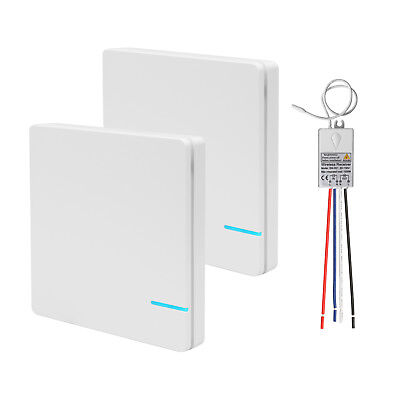 Double Wireless Light Switch + One Receiver Kit for Lamps Ceiling Fans - Wireless Light Appliance