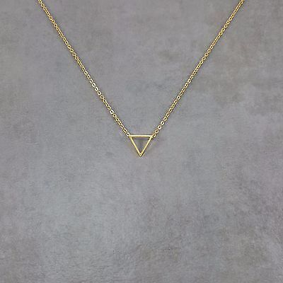 Triangle Gold Necklace in Gift Box Geometric Shape Gold 18K Plated Shapes (Triangle Gift)