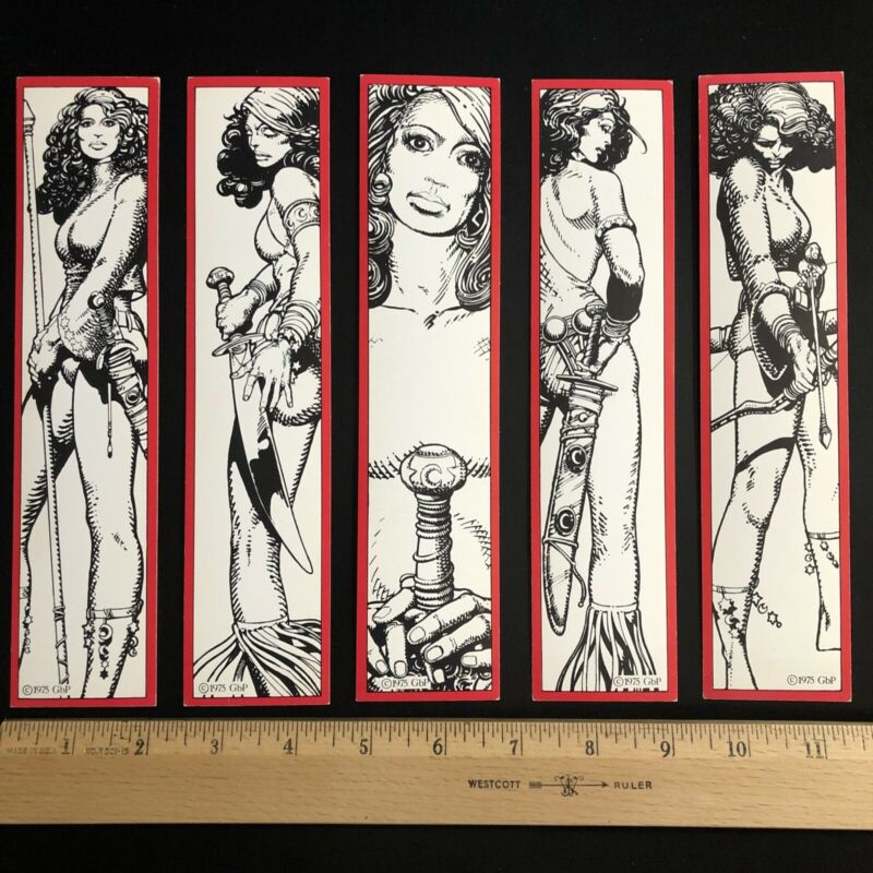 Barry Windsor Smith MOON & STAR VTG BOOKMARK SET OF 5 1st ed. 1975 Red Sonja