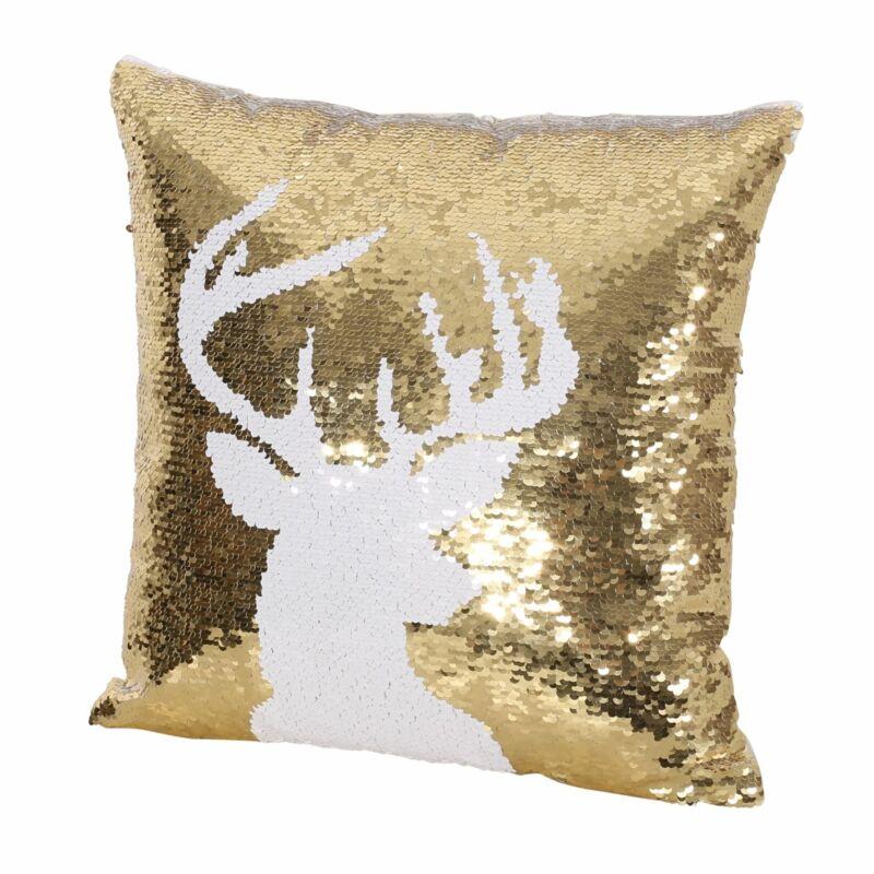 Harding Glam Velvet Christmas Throw Pillow Cover