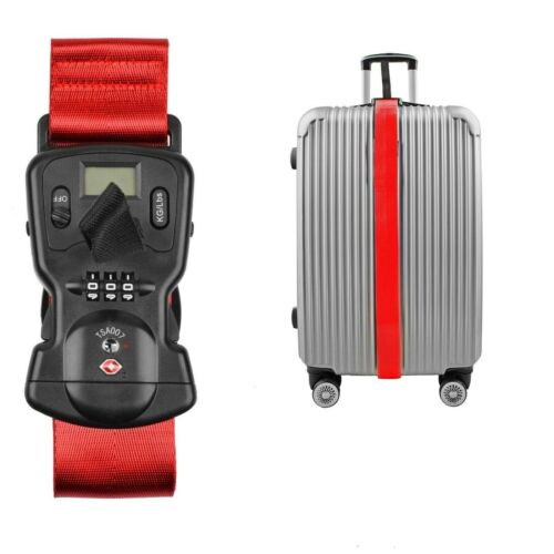 👀💲✔️Digital Scale Luggage Security LOCK Adjusting Strap COMBO Weigh it at HOME