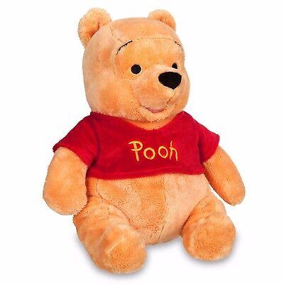 "DisneyStore Authentic Winnie the Pooh  Medium Soft Plush 14"" Toy"