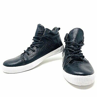 TOMS Camila High Top Sneakers Black Crocodile Leather Shoes Womens 12