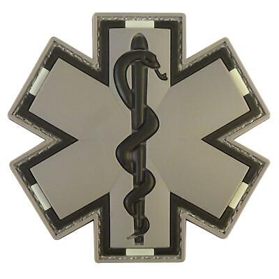 EMS EMT paramedic medic PVC ACU subdued tactical rubber touch fastener patch