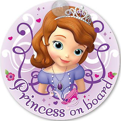 Autoschild SOFIA Disney 'PRINCESS ON BOARD' mit Saugnapf - Disney Princess Sofia