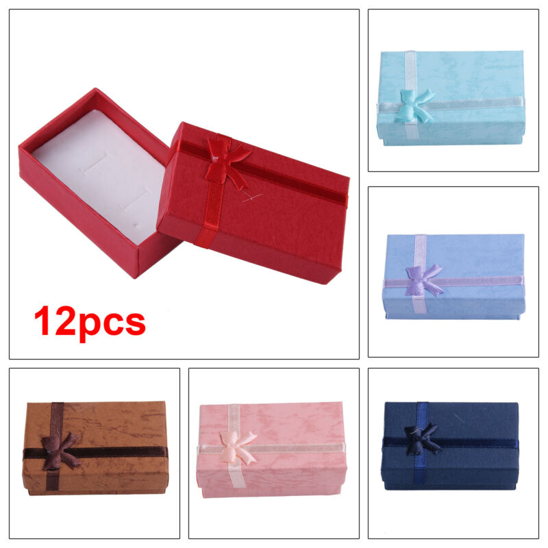 Jewellery - 12 x Jewellery Gift Boxes Necklace Pendant Bracelet Ring Display Holder TG UK