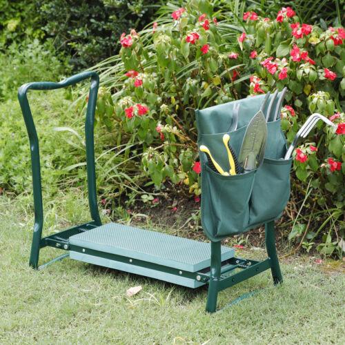 Foldable Kneeler Garden Bench Stool Soft Seat Eva Pad Kneeling Tool Pouch Garden Clothing & Protective Gear