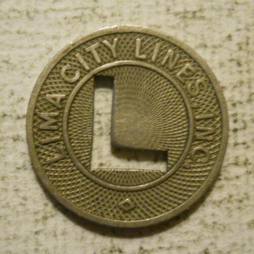 Lima City Lines (Ohio) transit token - OH450F
