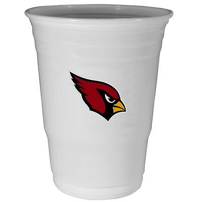 ARIZONA CARDINALS PLASTIC GAMEDAY CUPS 18OZ 18CT SOLO TAILGATE PARTY SUPPLIES (Arizona Cardinals Party Supplies)