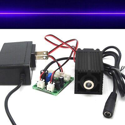 100mw 405nm Violetblue Focusable Line Long-time Work Laser Module 12v Adapter
