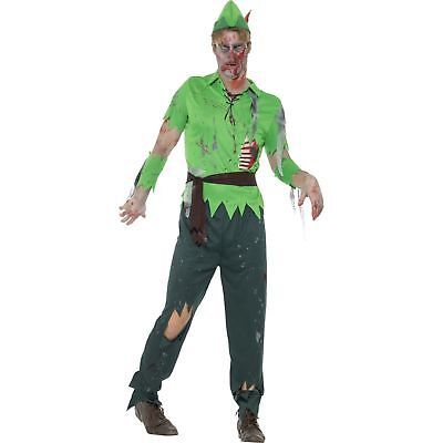 Peter Pan Halloween Costume For Adults (Zombie Lost Boy Peter Pan Halloween Horror Adults Mens Fancy Dress)