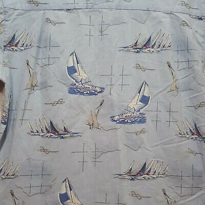 Wolverine Boots and Gear Shirt Sailboats Water Anchor Casual Button Down Size M