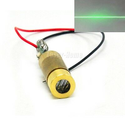 100mw 532nm Green Focus Line Laser Diode Module 5v Brass W Driver Switch Wire
