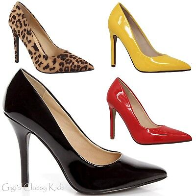 New Women's Pointy Toe Stiletto High Heels Dress Pumps Shoes Black Red Leopard