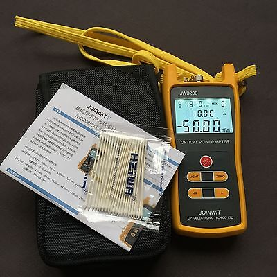 Handheld Optical Power Meter Jw3208c Laser Fiber Optic Tool Tester -50 To 26dbm