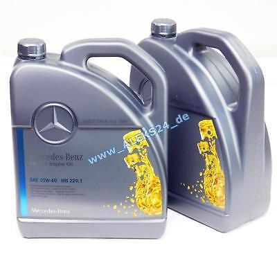 10L Orig. Mercedes Synthetic Motoröl Ölservice 10W40 MB 229.1 0009899002 10Liter