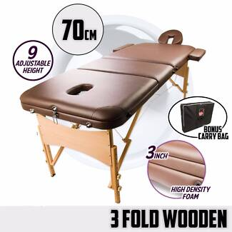Massage table Portable Brown, Carry Bag, Face Hole