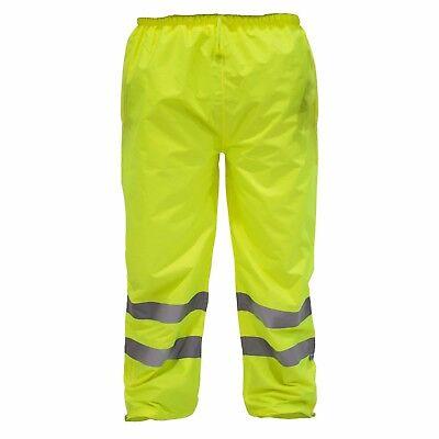 Hi Vis Rain Pants Work Waterproof Reflective High Visibility Safety Ansi