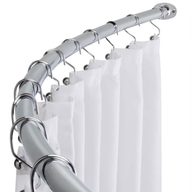Chrome Curved Shower Curtain Rod - Made of Strong & DURABLE ...