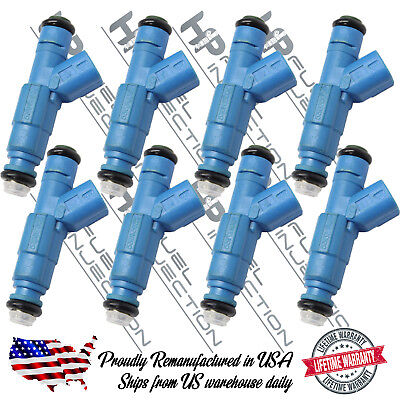 Lifetime Warranty Bosch Upgrade 4 Hole 24LB/Hr EV6 Dodge V8 Fuel Injector Set