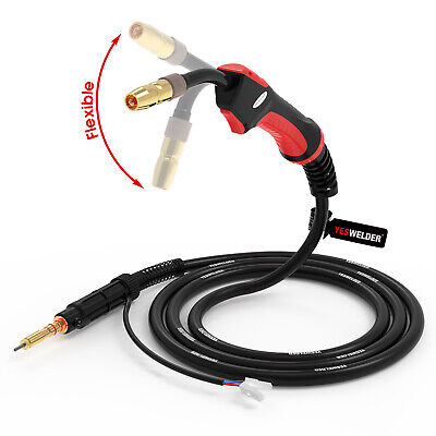 Flexible Mig Welding Gun Torch 100a 10 Replace Hobart Handler 135140175180