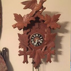 Alexander Taron Alpine Style Bird & Leaf Cuckoo Clock Wood Parts Only