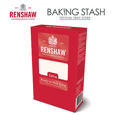 Renshaw Extra Ready to Roll Icing Fondant Covering Sugarpaste - White 1kg