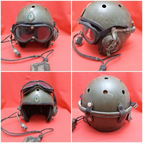BRAZILIAN HELMET USED IN TANKER ARMORED IN BRAZIL IN THE 60  70 YEARS.COMPLET