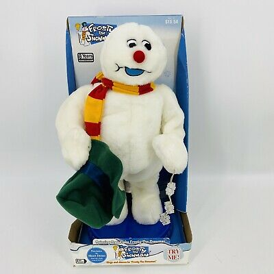 "Frosty The Snowman Spinning Snowflake 18"" Christmas Animated Dancing Gemmy"