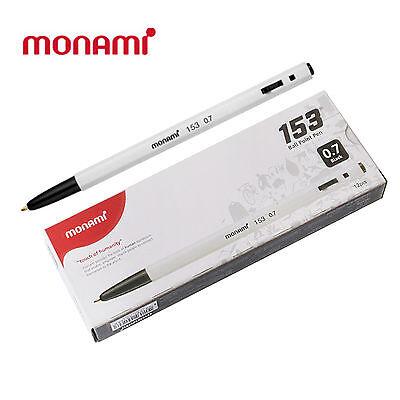 Monami Ball Pen 153 1Dozen 12pcs  0.7mm Black