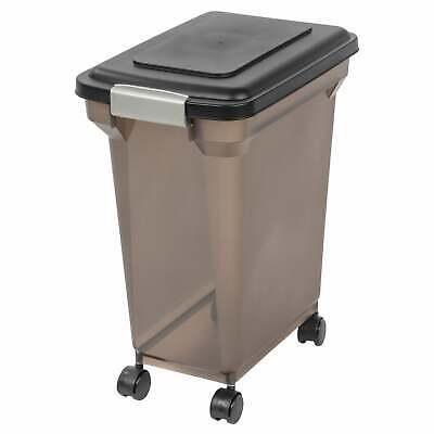 IRIS 28 qt. Airtight Pet Food Container Black