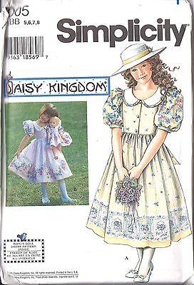 tage Nähen Muster Mädchen Daisy Königreich Kleid + Puppe (Mädchen Königreich)