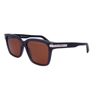Salvatore Ferragamo Sunglasses SF917S 433 Dark Blue Rectangle Men 55x18x140