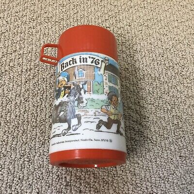 Vintage 70s Aladdin Plastic Lunchbox Thermos BACK IN '76  Complete