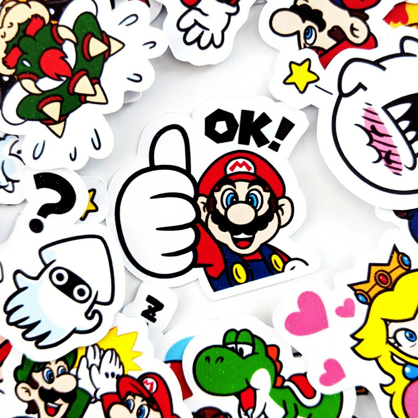 Home Decoration - 40 Super Mario Stickers, Journal Stickers, Diary Stickers, Scrapbooking [USA]