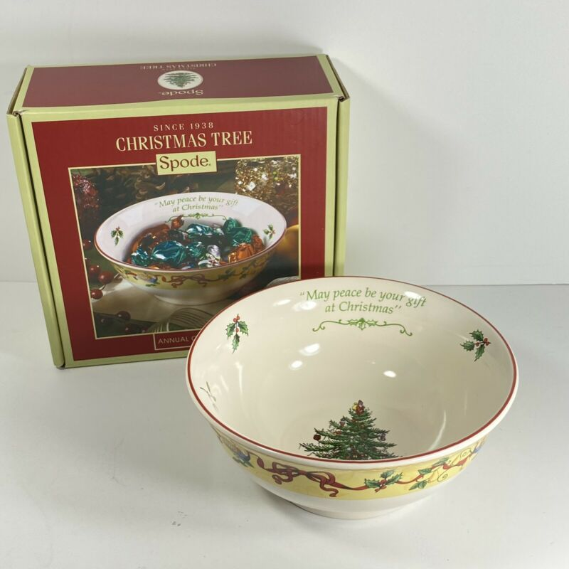 "Spode Christmas Tree Santa Annual Candy Bowl 6 1/4"" New England Holiday Gift"