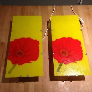IKEA Gyllet wall lighting poppies