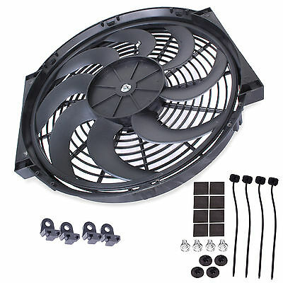 12 CURVED UNIVERSAL ENGINE RADIATOR INTERCOOLER COOLING 12V 80W ELECTRIC FAN