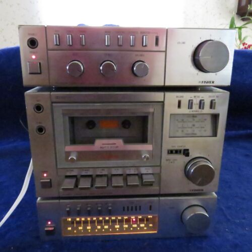 Fisher Premain CA-M100 Amplifier, FM-M100 Tuner & CR-M100M  GOOD COND SEE PICS!