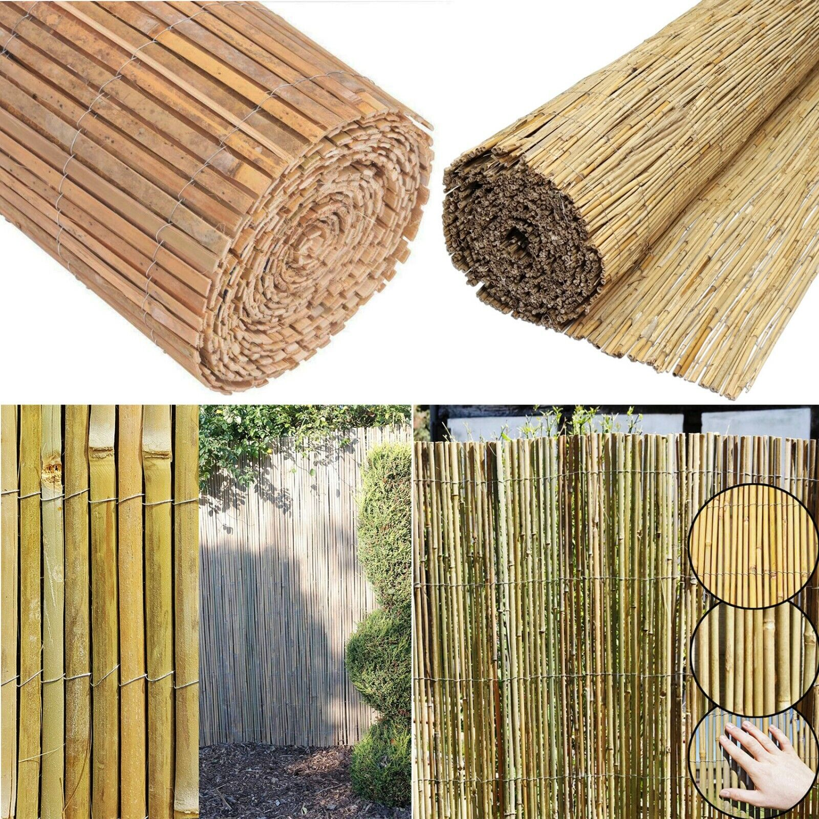 Details about Bamboo Screening Roll Screen Fencing Garden Fence Panel  Outdoor 4m Long