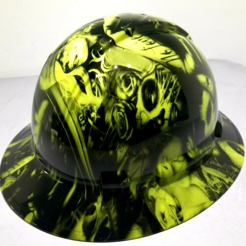 Hard Hat FULL BRIM custom hydro dipped , OSHA approved NO LOVE ALL HUSTLE NEW 3
