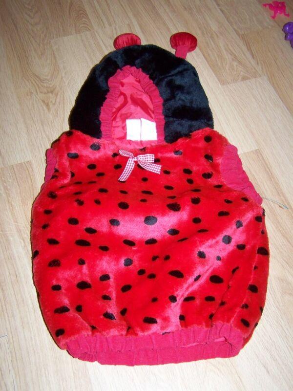Infant Baby Size 12-24 Months Ladybug Lady Bug Halloween Costume Euc