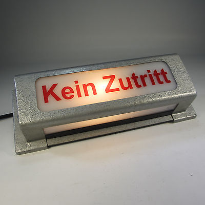 60er JAHRE KINOLAMPE HINWEISLEUCHTE ANTIK WANDLAMPE KEIN ZUTRITT THEATERLEUCHTE